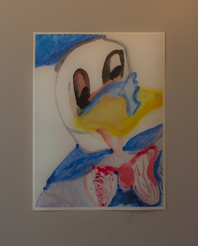 Kelli Sims, Donald Duck Lives Within Us All, Digital print on paper, 2014